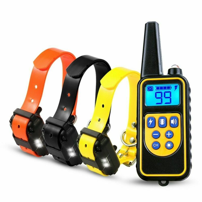 Dog Training Collar LR, Range 800m, Remote, 3x Receivers, Rechargeable