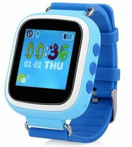 HZ55 – Kids GPS Tracking Phone Watch, SOS, Geofence, Voice and Chat, Blue