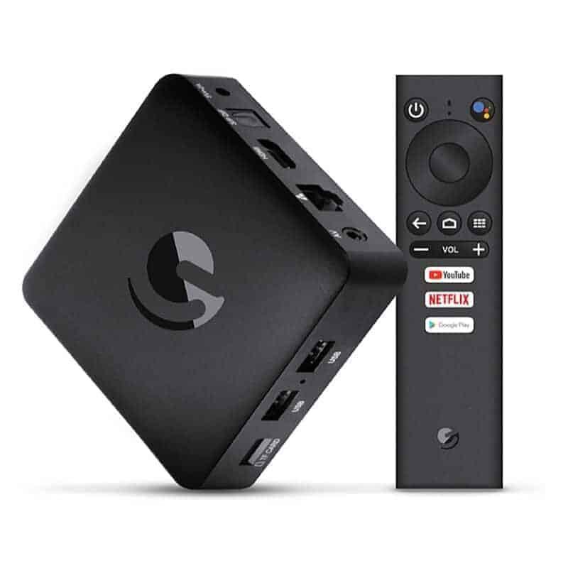 Ematic AGT419 4K Android TV Box google certified netflix dstv now