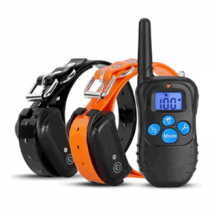 dog training collar remote 300m vibrate pulse shock rechargeable 2 dogs