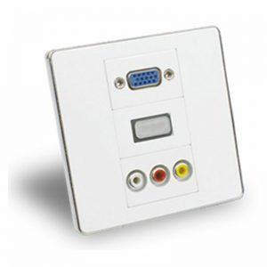 Wall & Trunking Plate 3 Slot, HDMI VGA, AV, RJ45, other