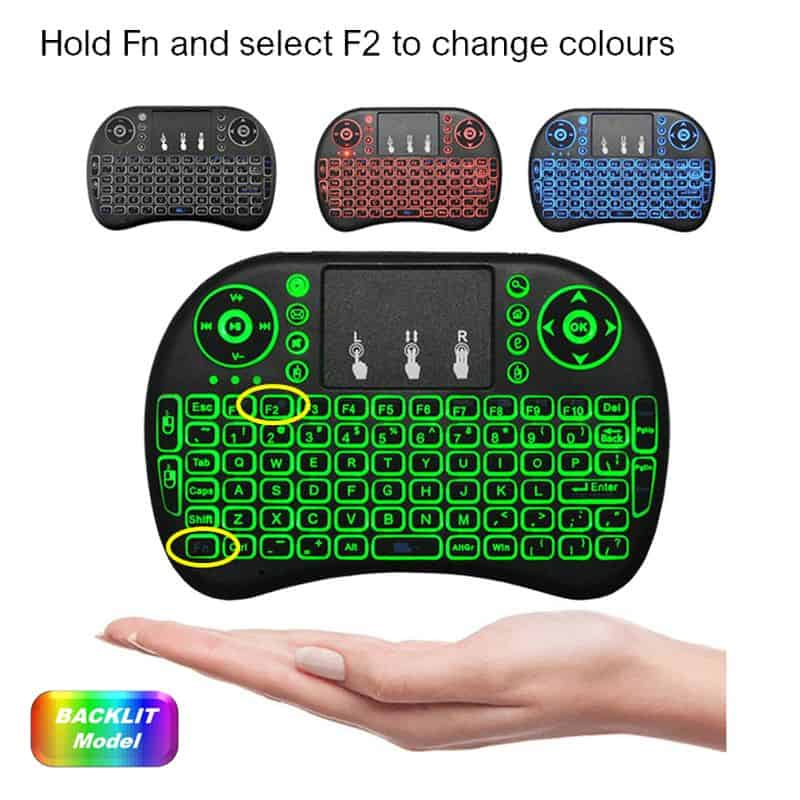 wireless keyboard mouse handheld multi colour