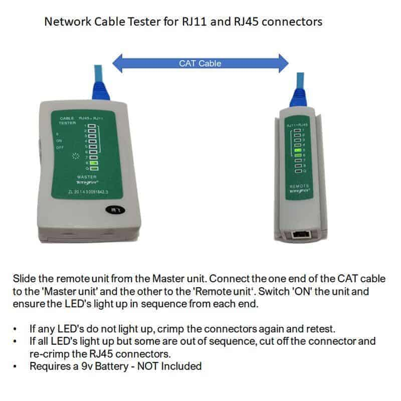 lan network cable tester how to