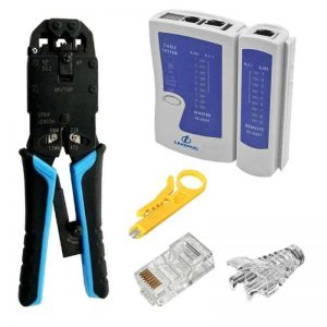Combo Network Cable, Crimp and Test Kit complete for DIY