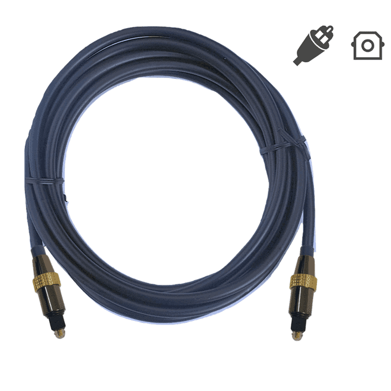 toslink spdif optical digital audio cable roll
