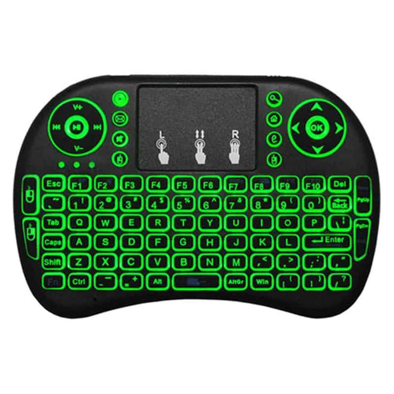 wireless keyboard mouse qwerty handheld backlit i8