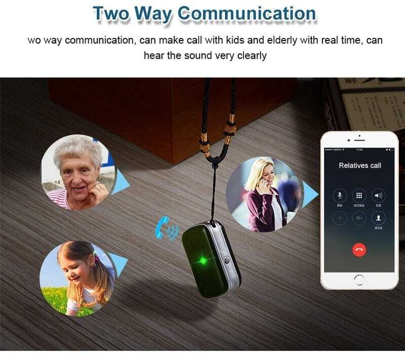 GPS tracker tag, waterproof, Aibeile GPS tracking app with voice