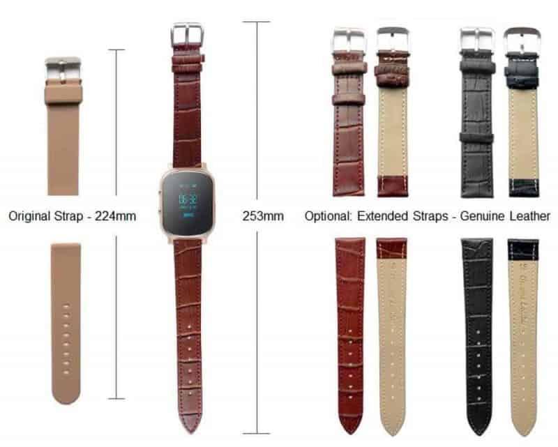 HZ58 GPS Watch Strap size