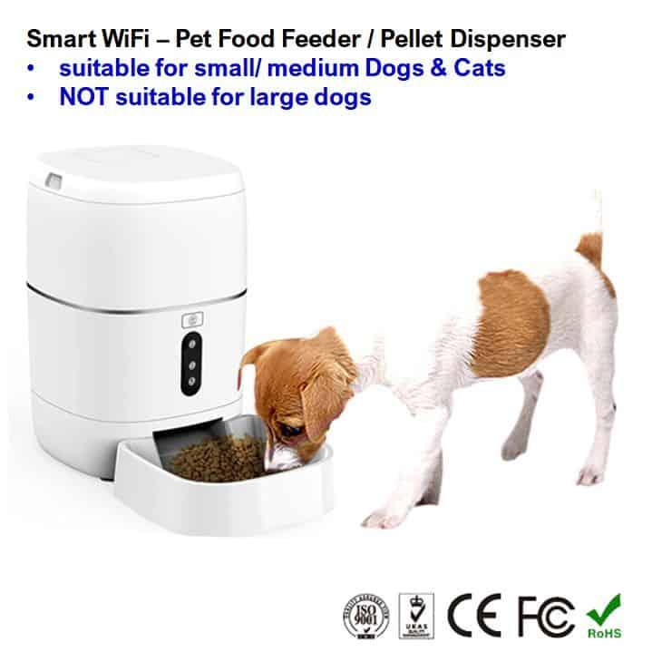 small medium dog cat pet food feeder dispenser smart wifi