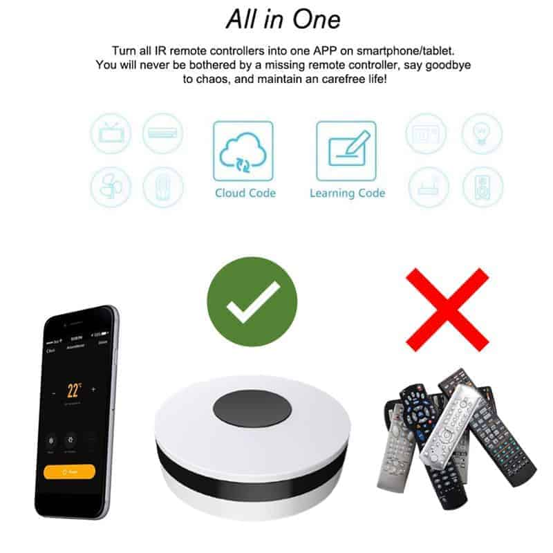 smart wifi ir remote controller all in one
