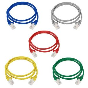 LAN network cable patch cord fly lead 1m 5x