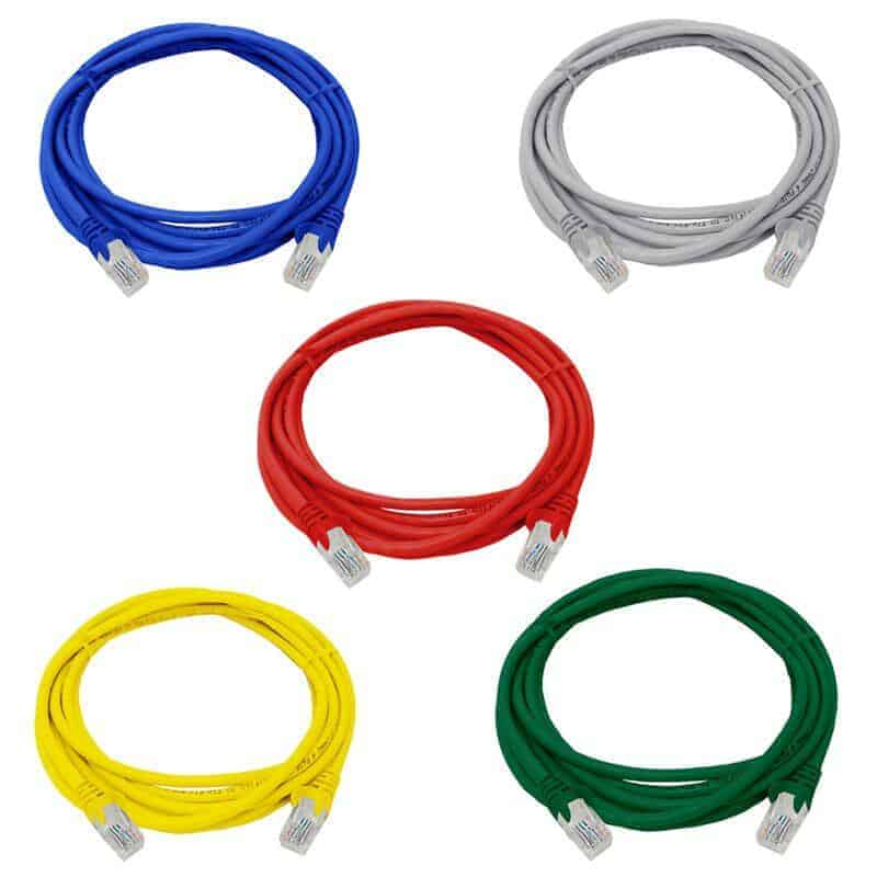 LAN network cable patch cord fly lead 3m 5x