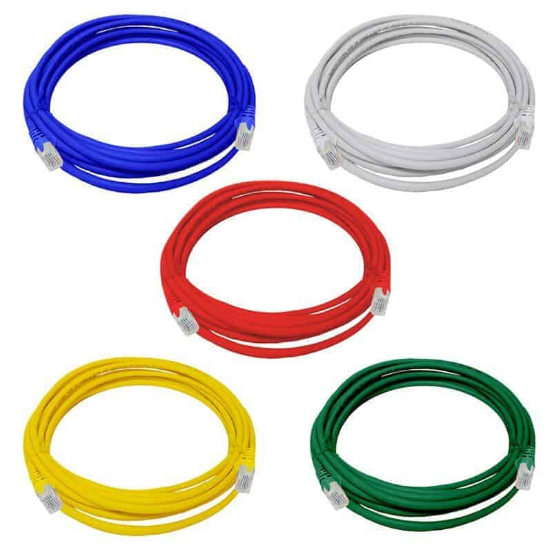 LAN network cable patch cord fly lead 5m 5x