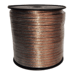 Monster Speaker Cable 12AWG, 4.0mm Transparent | 10m, 30m Roll or 100m Drum
