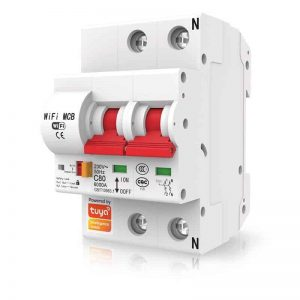 Smart Switch Circuit Breaker, MCB 63A, 2 Pole Isolator