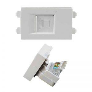 2.13a rj45 dust cover HTECH keystone wall plate insert