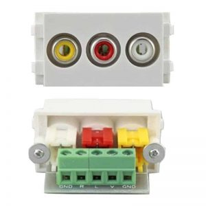 2.3b RCA AV 3x Yellow Red White HTECH insert