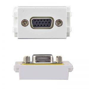 2.4 VGA female HTECH keystone wall plate insert