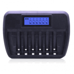 Battery Charger 6 slot Fast Intelligent for AA & AAA Rechargeable Batteries