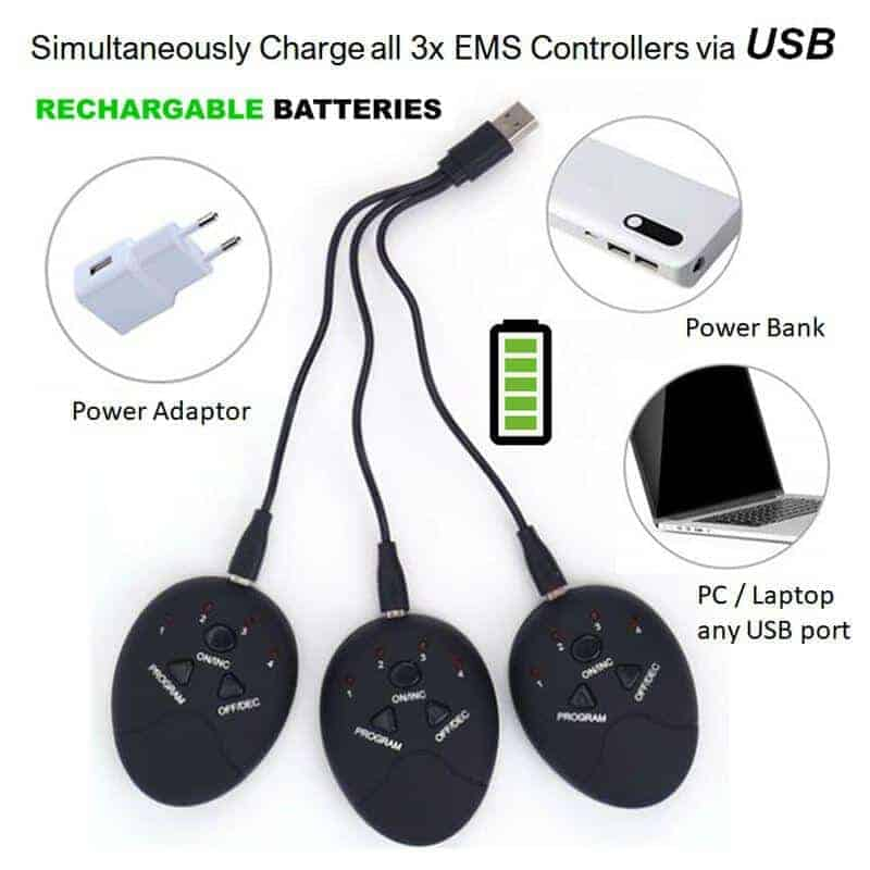 EMS rechargeable via usb abs muscle stimulator