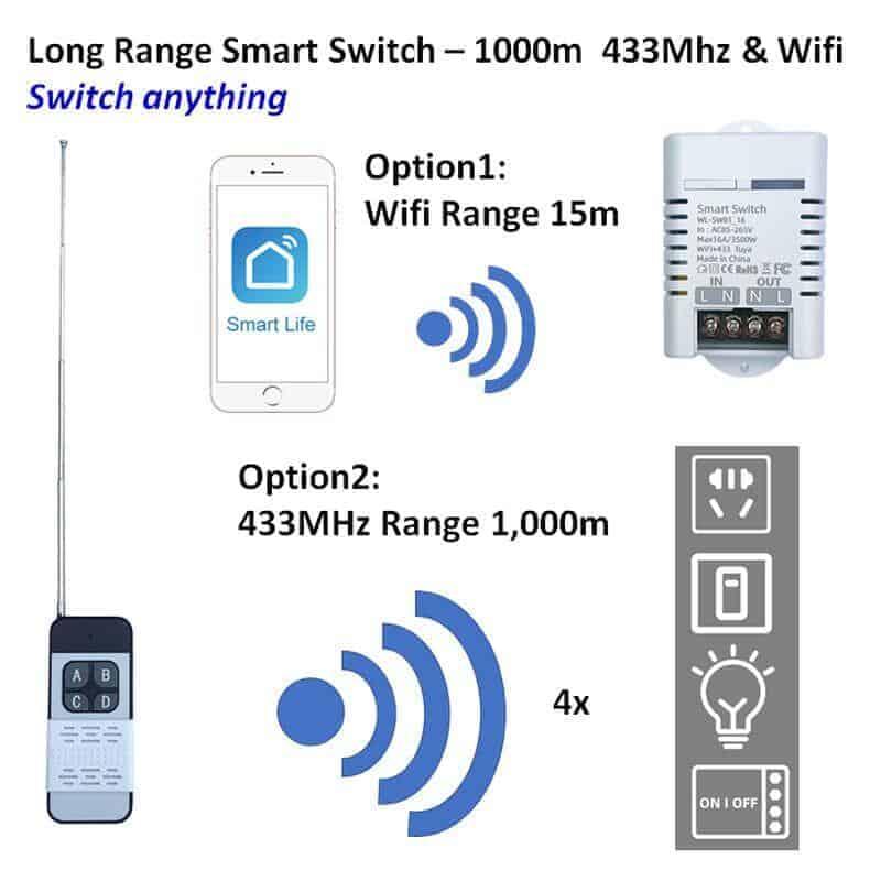 remote long range16A 433Mhz switch 1000m