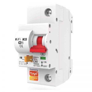 smart mcb circuit breaker single pole 16A 20A 25A 32A 40A 63A 125A wifi switch tuya smartlife