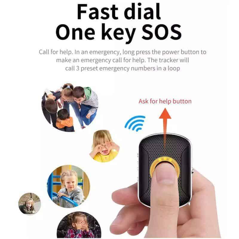 F29P Pet GPS tracker Tag 4G GSM sos button