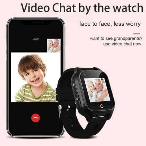 gps tracker watch edlerly kids tracker 4g cellular video call