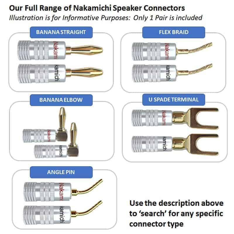 nakamichi speaker connector range gold plated