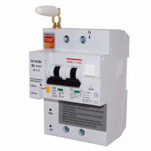 WIFI Circuit Breaker energy monitoring Remote Control earth leakage tuya smartlife
