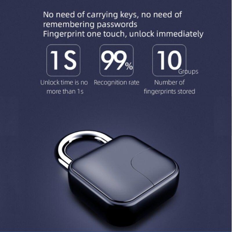 smart padlock wireless bluetooth biometrics fingerprint