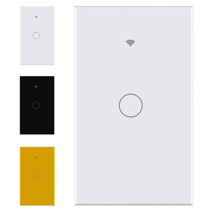 smart wifi switch no neutral 1 gang touch light tuya smartlife white