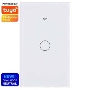 smart wifi switch touch 1 gang no neutral tuya smartlife