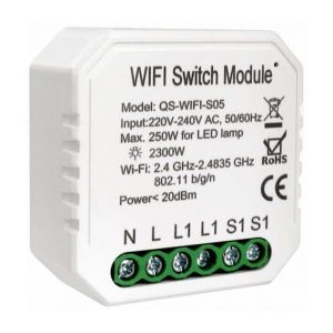 smart wifi switch module 2 way 2 gang upgrade existing switch of plug