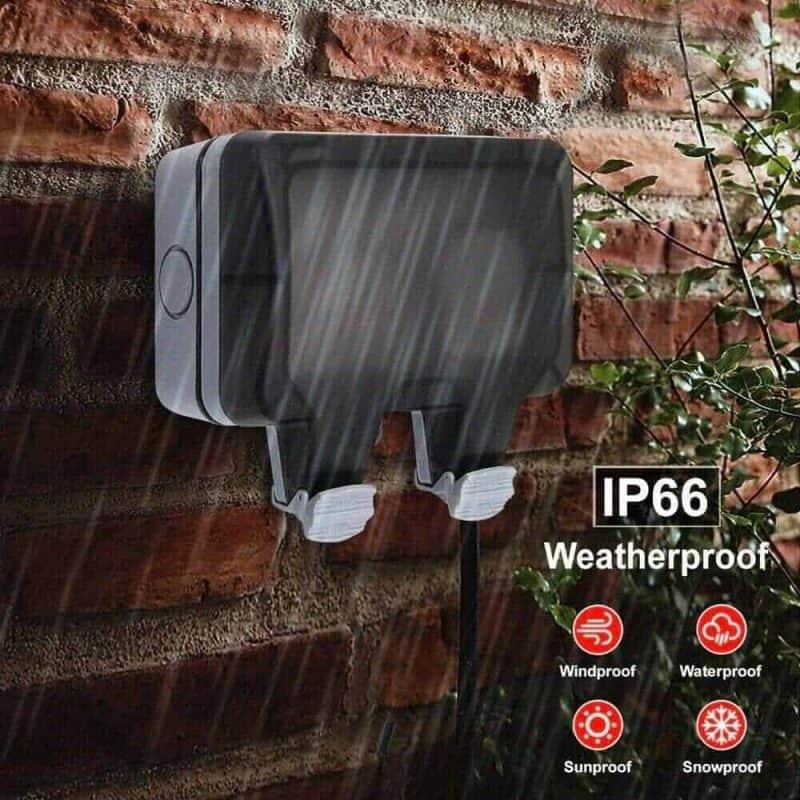Smart WiFi Switch Outdoor Waterproof 16A SA 2 Gang Tuya SmartLife_1