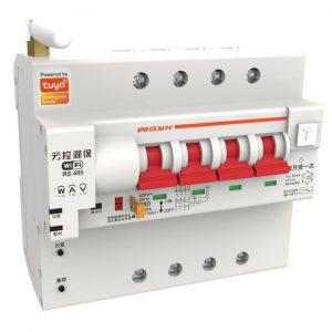 4Pole Smart WIFI Circuit Breaker energy monitoring earth leakage tuya smartlife