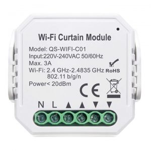 smart wifi curtain blind module override switch tuya smartlife